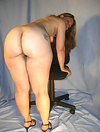 Juicy ass harlots are fooling around, posing and teasing with their big round bums