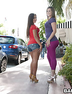 These 2 broads have big butt for days. Briella is a hawt little Lalin girl that takes it in the can and Jynx hales from Texas where apparently big asses grow on tree's.
