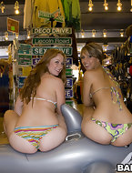 Kelsey Michaels and Alina Aldamen's Lucky fat ass Shopper